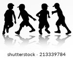 boys silhouettes   Shutterstock .eps vector #213339784