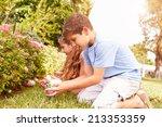 Two Children Having Easter Egg...