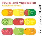fresh juice and vegetables... | Shutterstock .eps vector #213356203