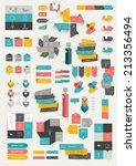collections of info graphics... | Shutterstock .eps vector #213356494