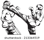 two taekwondo fighter | Shutterstock .eps vector #213364519