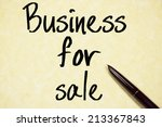 business for sale text write on ... | Shutterstock . vector #213367843