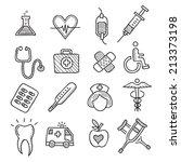 medicine drawn doodle vector... | Shutterstock .eps vector #213373198