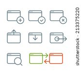 different web browser icons set ... | Shutterstock .eps vector #213375220