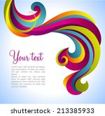 colorful vector decorative | Shutterstock .eps vector #213385933