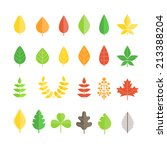 different leaf collection... | Shutterstock .eps vector #213388204