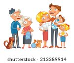 big happy family consisting of... | Shutterstock .eps vector #213389914