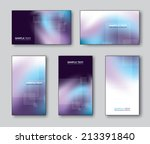 business cards or gift cards.... | Shutterstock .eps vector #213391840