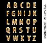 vector alphabet with steel and... | Shutterstock .eps vector #213392566