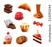 confectionery  vector set 3 | Shutterstock .eps vector #213393244
