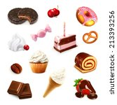 confectionery  vector set 2 | Shutterstock .eps vector #213393256