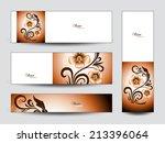 abstract vector banners... | Shutterstock .eps vector #213396064