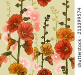 seamless pattern with bindweed...   Shutterstock .eps vector #213399574