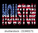 grunge houston text with... | Shutterstock .eps vector #21340171