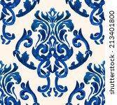 vector damask pattern | Shutterstock .eps vector #213401800