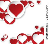 vector heart background | Shutterstock .eps vector #213402844