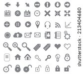 application icons for web and... | Shutterstock .eps vector #213404680