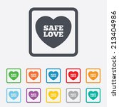 safe love sign icon. safe sex... | Shutterstock .eps vector #213404986