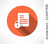 protected document icon | Shutterstock .eps vector #213407908