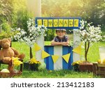 a little boy has an outdoor ... | Shutterstock . vector #213412183