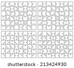 set of white puzzles  vector | Shutterstock .eps vector #213424930