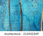illustrated underwater life...   Shutterstock . vector #213432349