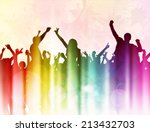 dancing people silhouettes | Shutterstock .eps vector #213432703