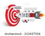 arrow right on target   vector... | Shutterstock .eps vector #213437536