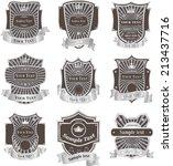 vintage labels vector set | Shutterstock .eps vector #213437716