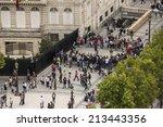 paris  france   august 17 ... | Shutterstock . vector #213443356
