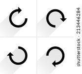 4 arrow icon refresh  rotation  ... | Shutterstock .eps vector #213446284