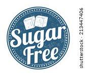 sugar free grunge rubber stamp...   Shutterstock .eps vector #213447406