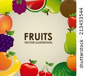 fruits design  over white ... | Shutterstock .eps vector #213453544