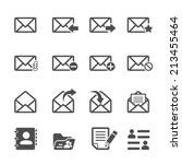email icon set  vector eps10. | Shutterstock .eps vector #213455464