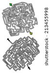 two mazes | Shutterstock .eps vector #213455998