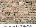 old red brick wall texture | Shutterstock . vector #213460306