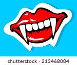 cartoon vampire smile with...   Shutterstock .eps vector #213468004