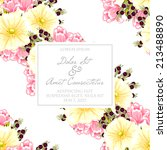 wedding invitation cards with... | Shutterstock .eps vector #213488890
