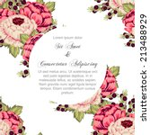wedding invitation cards with... | Shutterstock .eps vector #213488929