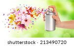 flower scented room sprays and... | Shutterstock . vector #213490720