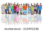 diverse group of children... | Shutterstock . vector #213492238