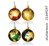 Christmas globes balls vector and isolated