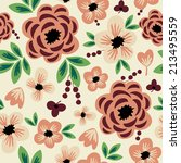 seamless pattern with cute... | Shutterstock .eps vector #213495559