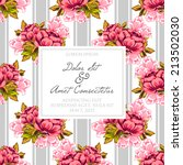 wedding invitation cards with... | Shutterstock .eps vector #213502030