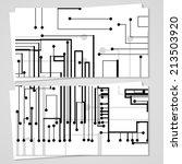 vector business card  set for...   Shutterstock .eps vector #213503920