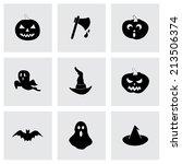 vector black halloween icons... | Shutterstock .eps vector #213506374