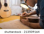 an italian luthier working on... | Shutterstock . vector #213509164