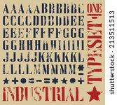 industrial stencil grunge...   Shutterstock .eps vector #213511513