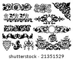 set of beauty ornament. for... | Shutterstock .eps vector #21351529