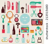 make up and beauty symbols icon ... | Shutterstock .eps vector #213515680